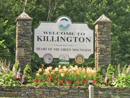 Killington Welcome Sign